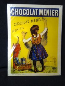 Plaque métal chocolat Menier 30 x 40 cm