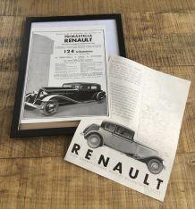 Lot 2 publicités années 30 Auto RENAULT