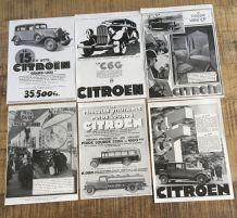 Lot 6 publicités années 30 Auto CITROEN