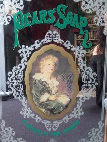 """Grand miroir publicitaire """"Pear's soap"""" (Anglais)"""