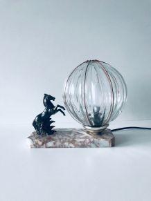 Lampe cheval art déco