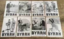 Lot 8 publicités années 30 alcool BYRRH