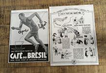 Lot 2 publicités années 30 Café Brésil