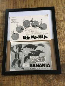 Lot 2 publicités années 30 Banania