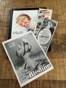 Lot 4 publicités années 30 BLEDINE MONT BLANC TONIMALT