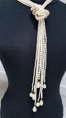 sautoir fausse perles vintage