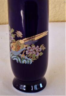 Petit vase céramique bleue