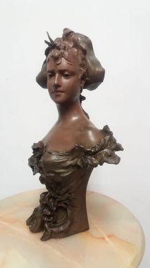 buste de femme en régule NELSON anton