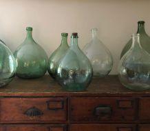 Dame-jeanne dans les tons vert-turquoise,  5 litres