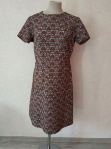 Robe vintage manches courtes