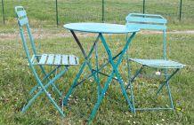 Ensemble de jardin table et 2 chaises plian