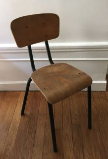 Chaise vintage écolier taille adulte