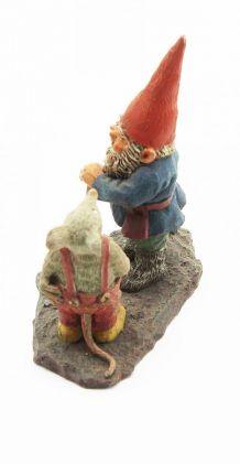 Statue Gnome classic Edberg avec un lapin