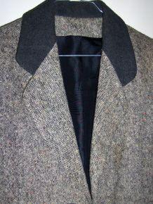 Veste grise chinée