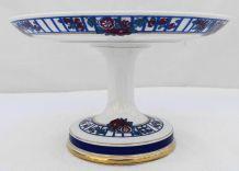 Plat à dessert sur pied porcelaine de Limoges
