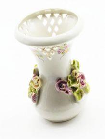 Petit vase en céramique fleurs