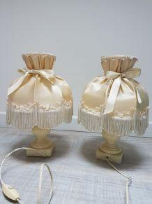 deux pieds de lampe de chevet vintage kitsch