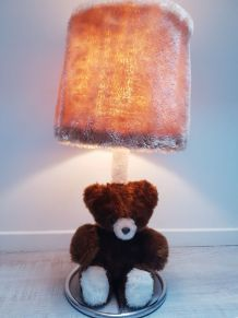 Lampe a Poser ours en Peluche- Années 70