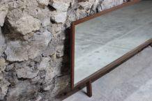 Miroir de coiffeuse vintage inclinable en teck, style scandi