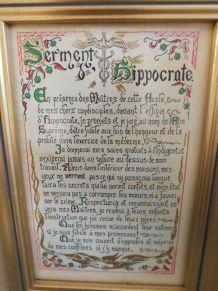 Cadre '' Serment Hippocrate ''
