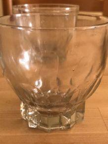 Verres à eau ronds vintage