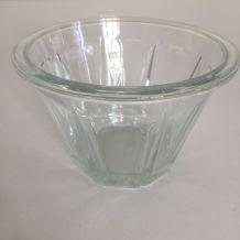 Pot à confiture ancien évasé, verre épais