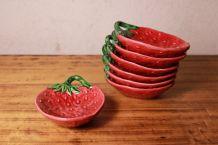 Lot 6x assiettes fraises