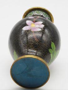 Grand vase cloisonné chinois