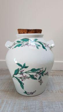 Vinaigriers grès et céramique fleuri
