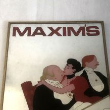 Miroir Maxim's vintage 80's