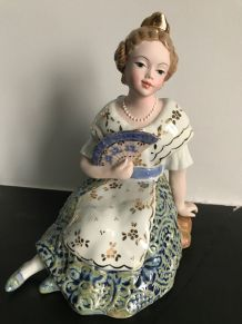 """Statuette Porcelaine ancienne """"VALENCIANA"""" Collector !"""