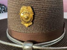 """Véritable Vintage chapeau""""Stratton"""" de Sheriff USA"""