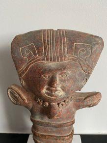 A saisir ! Statuette Pré-Colombienne Jama Coaque -500 avJC