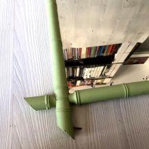 Miroir en Rotin vert vintage