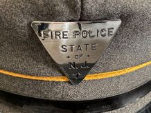 Casquette originale années 60'  Fire Police State NEW JERSEY