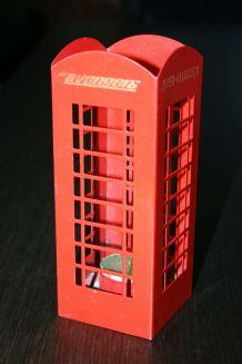 Bougeoir cabine téléphone anglaise Champagne Piper Heidsieck