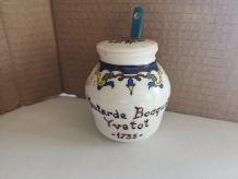 ancien moutardier ceramique