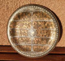 Assiette égyptienne décorative en cuivre