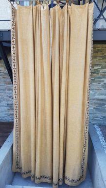double rideaux vintage
