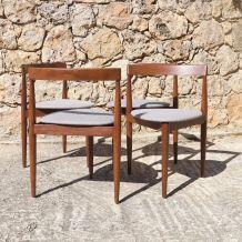 Série de 4 chaises en teck de Hans Olsen pour Frem Røjle