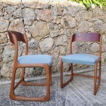 """Paire de chaises Baumann """"Bemole """" 1960"""