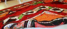 Tapis vintage Ouzbek Suzani Patchwork fait main, 1C46