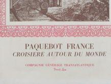 MENU PAQUEBOT FRANCE