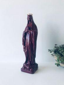 Vierge en plâtre peinte