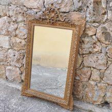 Miroir ancien doré de style Louis XV