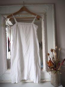 Antique chemise de nuit en coton blanc lingerie ancienne vin