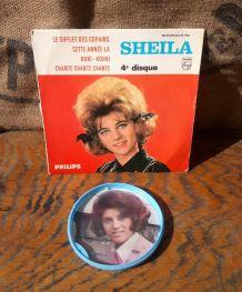45 tours Sheila (Philips) et médaillon publistar