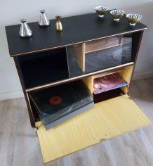 Meuble pour tourne disques, vinyles, TV
