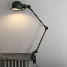 Lampe Jielde 2 bras verte d'origine vintage 1960