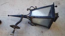 lanterne ancienne fer forgè   tres lourde a sceler 1920 75x3